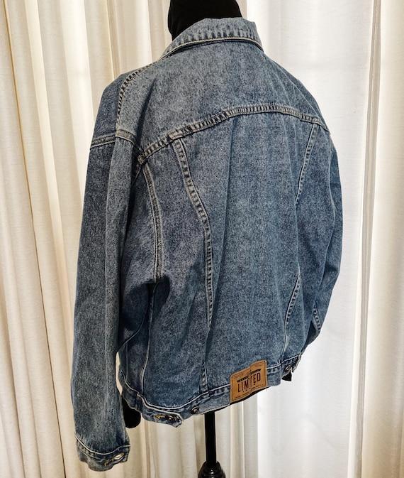 Blue Denim Jacket, Vintage Jacket, Tagged Limited… - image 5