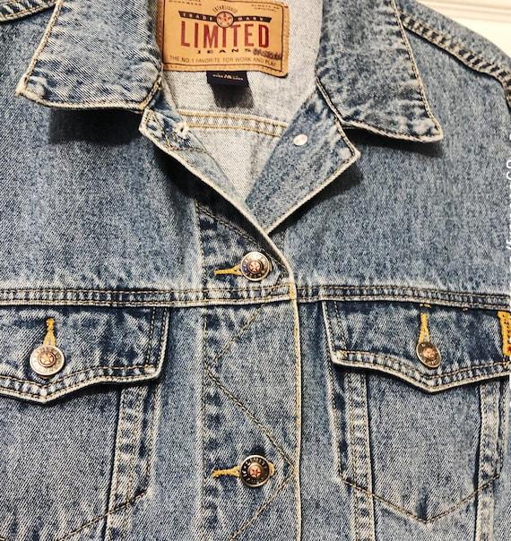Blue Denim Jacket, Vintage Jacket, Tagged Limited… - image 6