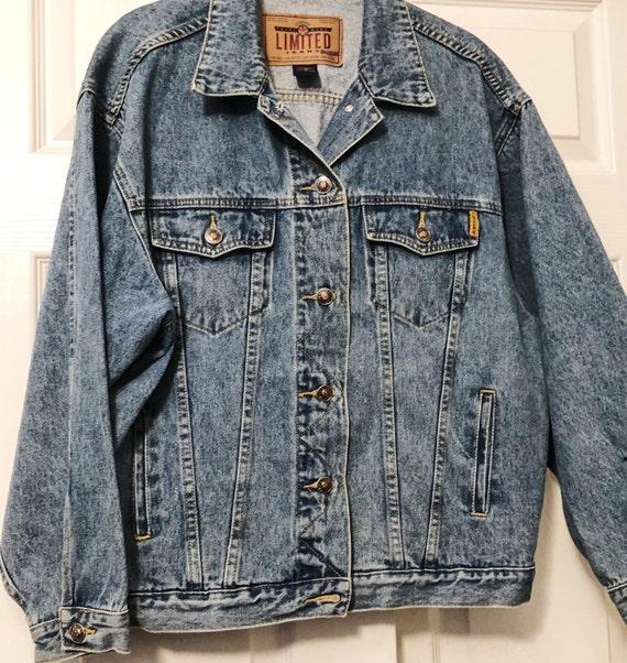 Blue Denim Jacket, Vintage Jacket, Tagged Limited… - image 1