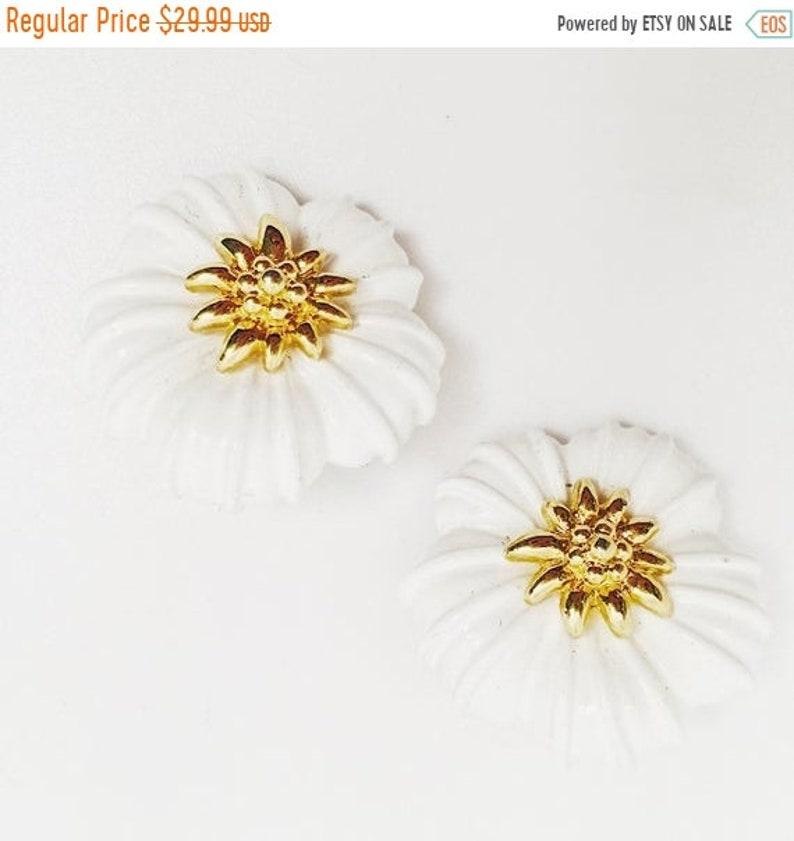 Vintage Earrings Easter Spring Summer ON SALE MONET Flower Earrings