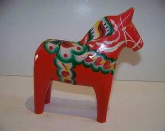 Dala Horse hand painted made in Norway