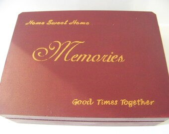 """hand painted """"Memoires"""" box done by me aprox 12X9X3"""