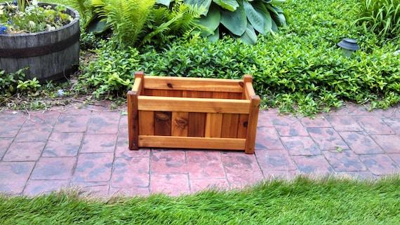 Cedar Planter Box 10 X 20 Rectangle Etsy