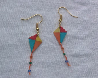 Colourful kite earrings
