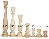 Various Sizes- Unfinished Wood Candlestick Holders- DIY Wedding Accents, Home Decor, Cake Tier Spacer, Wedding Decor, Candle Holders,