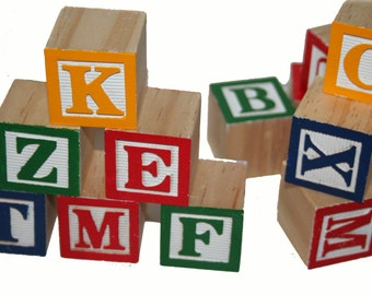letter blocks etsy