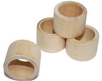 Wood Napkin Ring Holder Unfinished Wood Napkin Ring Holder Etsy