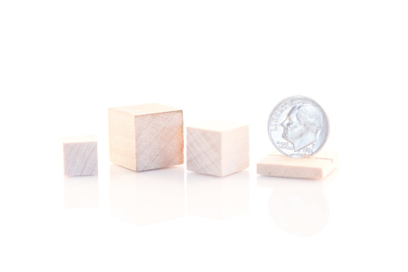 Square Blocks 12 and 58 Wooden Blocks Wood Cubes 10-38 Minature Block Wood Blocks Solid Wood Blocks Maple Block Counting