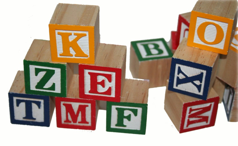 bade531be6 Alphabet Wood Blocks Wooden Blocks ABC Blocks Guest Book