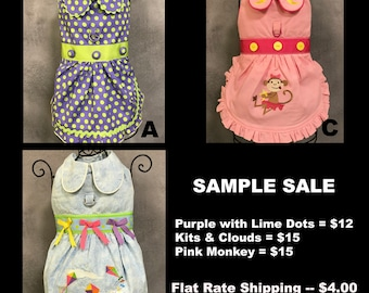 SAMPLE SALE:  Everyday Selection of Dog Dresses