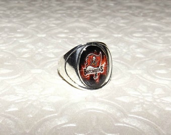 0675fe71b Tampa Bay Buccaneers Inspired Marble Ring