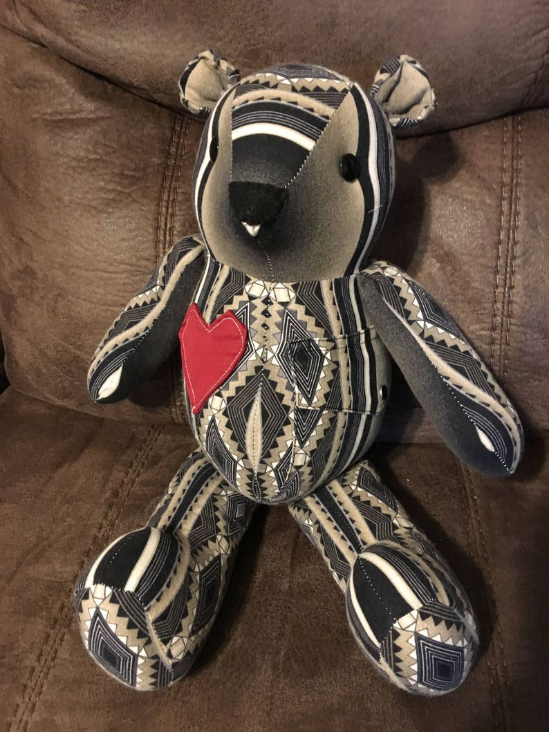 Memory Bear Keepsake made from your loved ones clothing