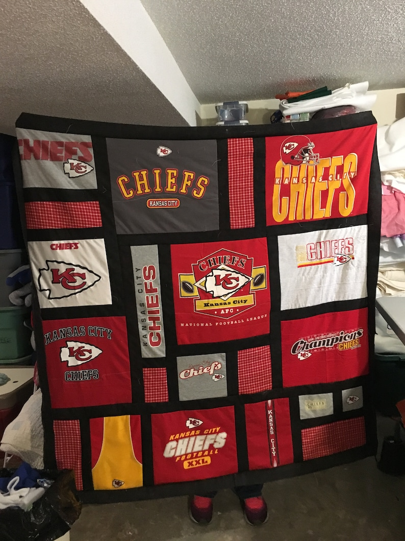 3a8c2625 Kansas City Chiefs Tshirt Quilt- order one now!