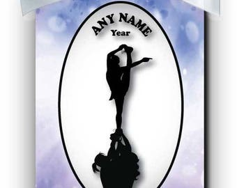 Cheerleader Competition 3 Silhouette Personalized Ornament