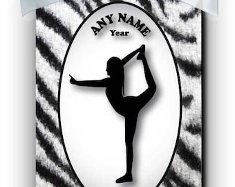 Cheerleader Competition Silhouette Personalized Ornament