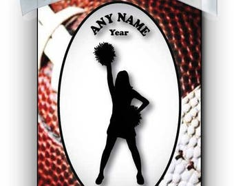 Cheerleader Cheering Silhouette Personalized Ornament