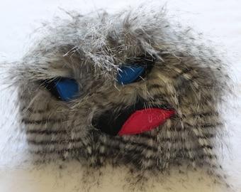 Gray Faux Fur Monster