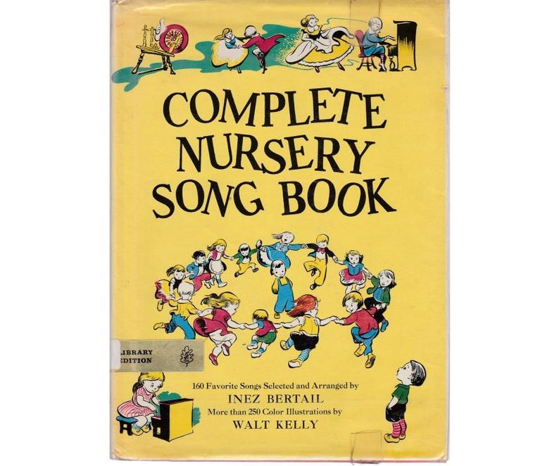 Vintage childrens music book Complete Nursery Songbook | Etsy