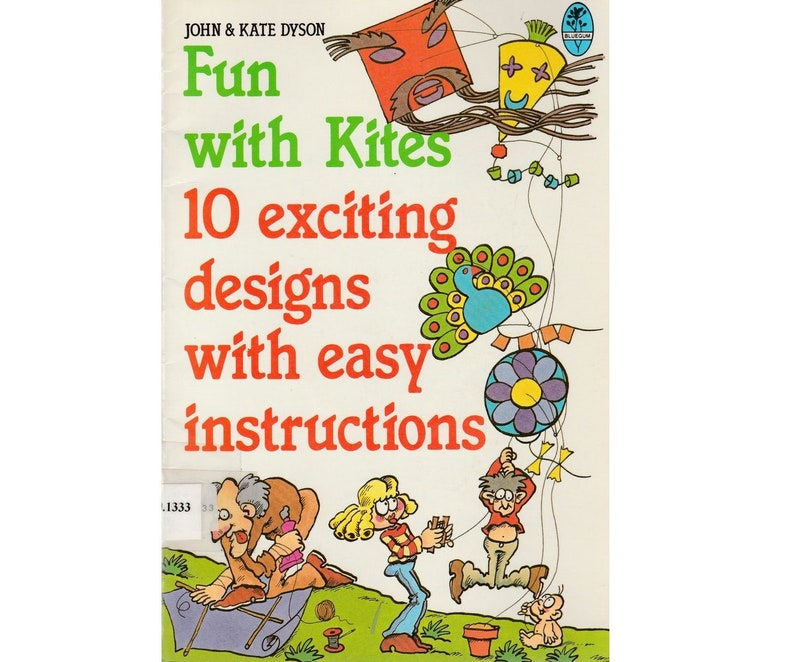 Vintage Children S Diy Kite Craft Book Fun With Kites 10 Etsy