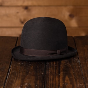 Steampunk Hats | Top Hats | Bowler 1890-1910 Bowler Hat The Soup Kitchen $449.99 AT vintagedancer.com