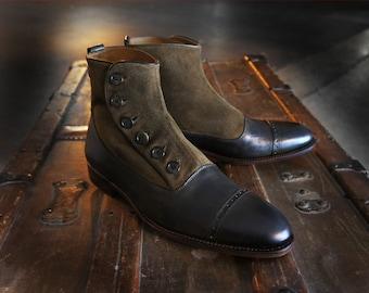 Merganser Two-Tone Button Boot