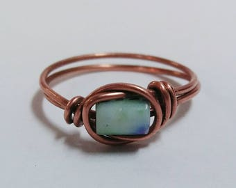 Wire Wrapped Bead Ring