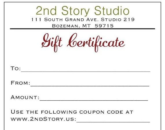 75 Dollar Gift Certificate (USD)