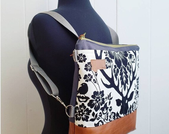 Large Crossbody add on only! This listing will add components to make the Large crossbody a convertible backpack! See details below.