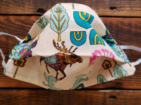 Wyoming print/Basic fabric mask + elastic ear straps/NO returns, refunds, alterations or exchanges/Read description before purchasing