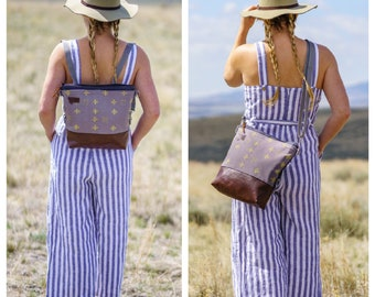 ADD ON to Large Crossbody only! This listing will add  2 extra straps and the components to make the Large crossbody a convertible backpack!
