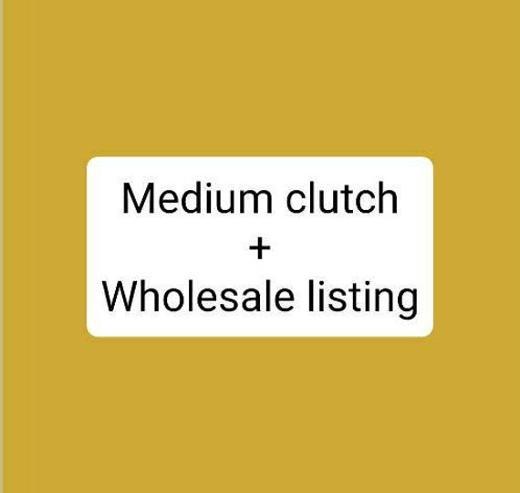Wholesale listing for the MEDIUM CLUTCH/If you're interested in a wholesale account please see details below