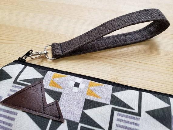 Wrist strap only/Add a dark brown linen wrist strap to any clutch