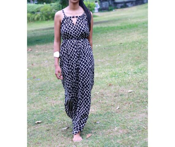 5541408f20 Women s Maxi Dress in black animal pattern print casual