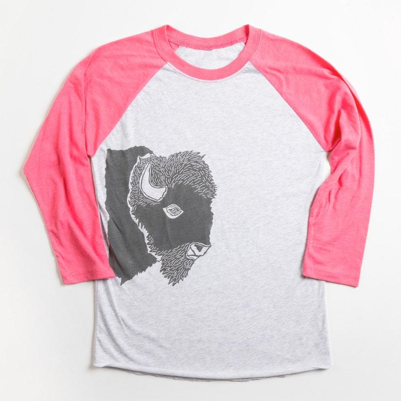 Womens Bison profile baseball T-shirt