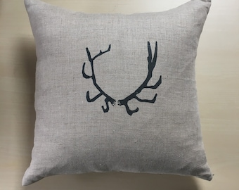 Antler pillow