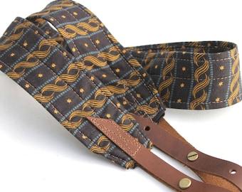 Star Spangled Banjo Strap with Adjustable Leather Ends