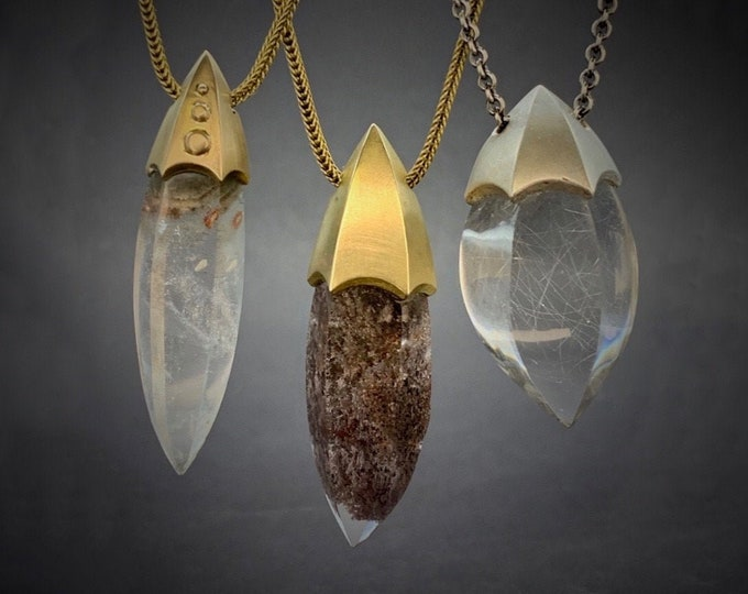 Rocket pendants - bronze or silver