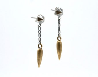 Hexastud dagger drop earrings