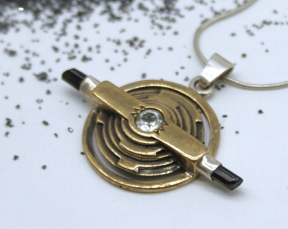 Time Portal Dial - Topaz and tourmaline