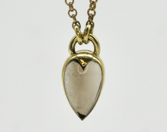 Heartlock necklace - smoky quartz