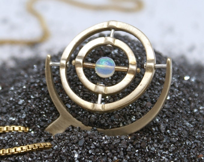 Gyroscope pendant  -   Opal