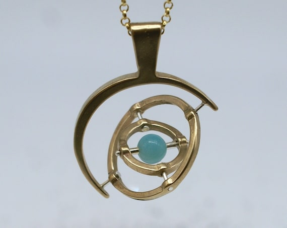 Bronze Gyroscope 5.0 - Amazonite