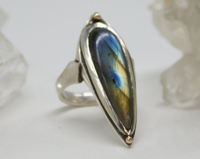 Spacewitch Labradorite ring - size 8.25