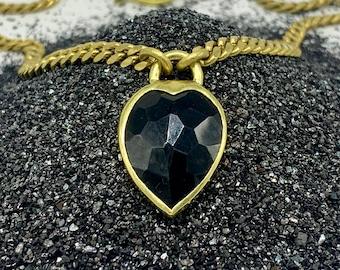Heartlock necklace - black onyx