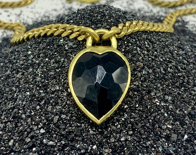 Heartlock necklace - black onyx
