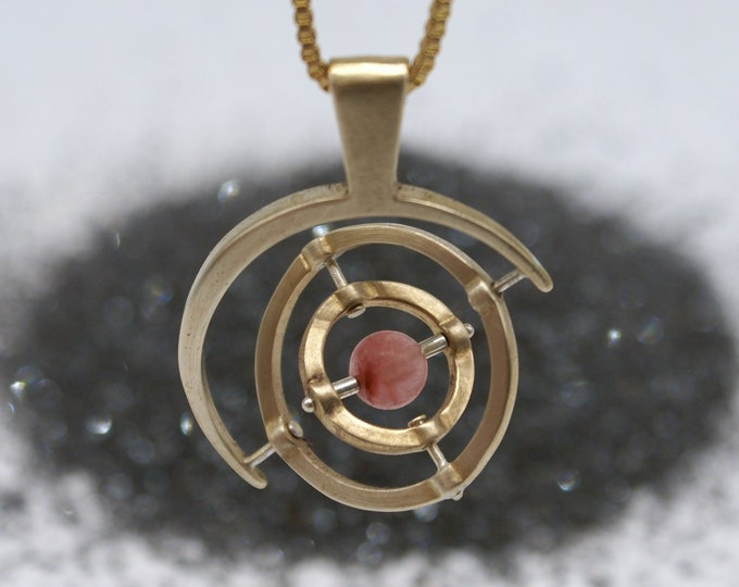 Bronze Gyroscope 5.0 - pink tourmaline