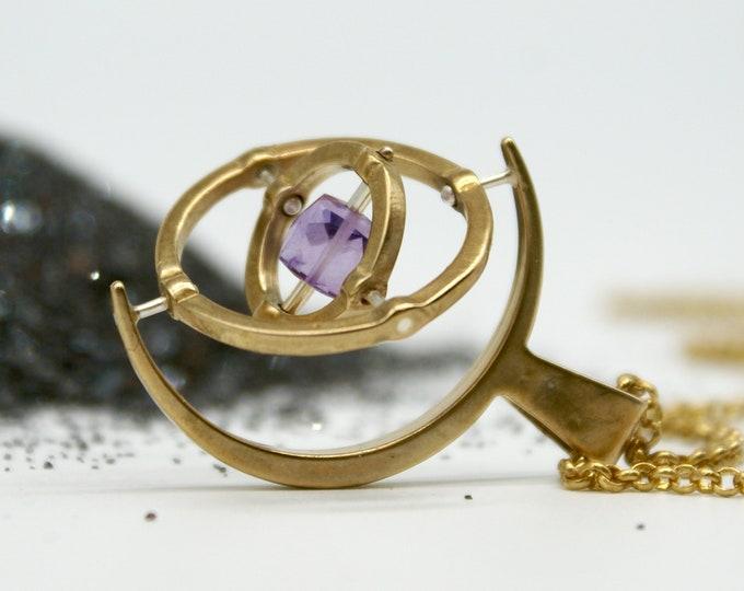 Bronze Gyroscope 5.0 - Amethyst