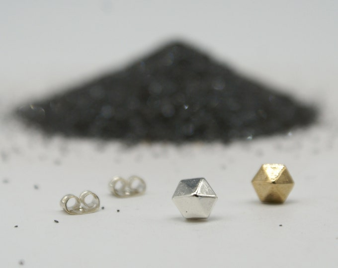 Hexagem studs - bronze or silver