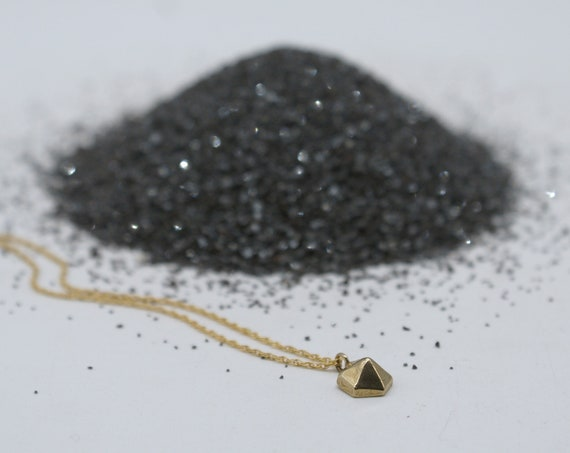 Hexagem charm necklace