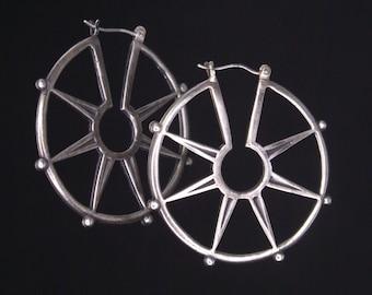 Spur Hoop earrings - bronze or silver
